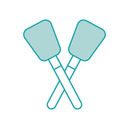paar spatel keuken gereedschap rubber vector illustratie