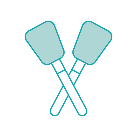 pair spatula kitchen utensil tool rubber vector illustration