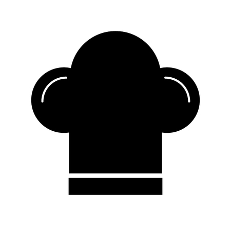 boss chef hat accessory uniform emblem vector illustration