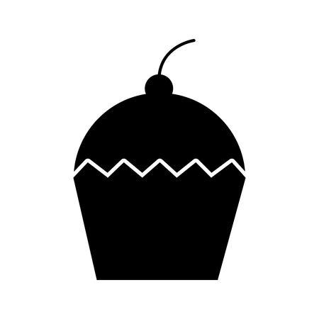 cupcake dessert pastry product food fresh vector illustration