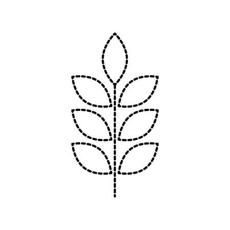밀 또는 보리 귀 분기 곡물 수확 흰색 배경 벡터 일러스트 레이 션 일러스트