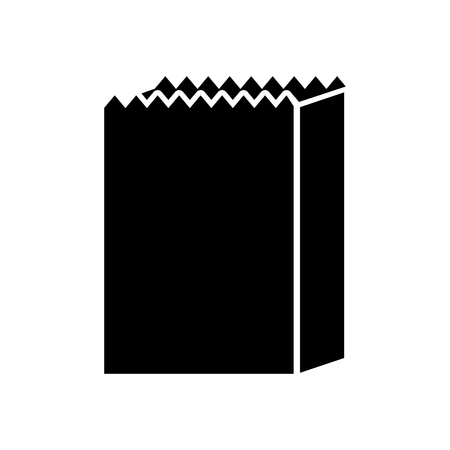 paper bag bakery empty shopping element vector illustration Stock Vector - 85136594