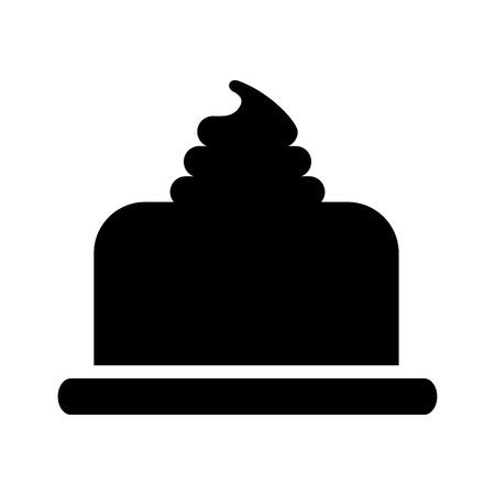 甘い焼いたケーキの誕生日クリームおいしいベクターイラスト 写真素材 - 85136134