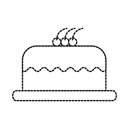 케이크 맛있는 베리 베이커리 과자 맛있는 맛있는 벡터 일러스트 레이션
