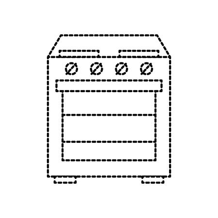 applicance oven kitchen machine image vector illustration Ilustração
