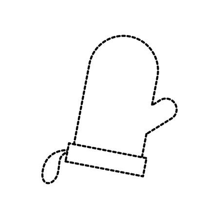 白い背景のベクトル図のアイコンをベーキング グローブ鍋つかみキッチン  イラスト・ベクター素材