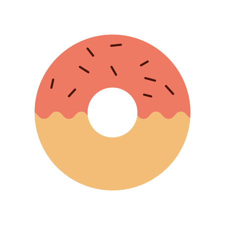 donut dessert pastry product food fresh vector illustration