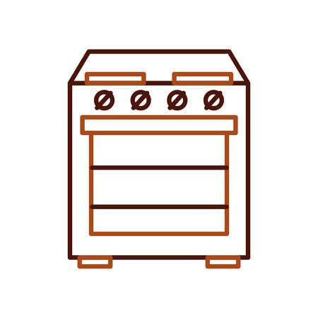 applicance oven kitchen machine electric vector illustration Illustration