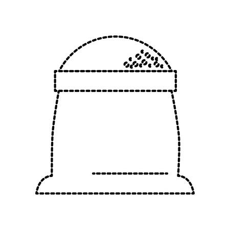 sack of flour grain ingredient bakery icon vector illustration Reklamní fotografie - 85140417