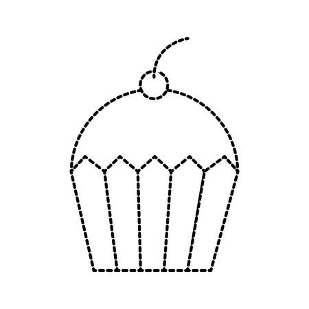 Cupcake Dessert Gebäck Produkt Essen frisch Vektor-Illustration Standard-Bild - 85136244