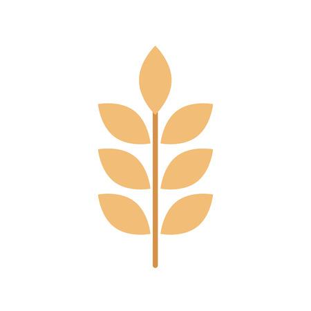 밀 또는 보리 귀 분기 곡물 수확 흰색 배경 벡터 일러스트 레이 션 스톡 콘텐츠 - 85136331