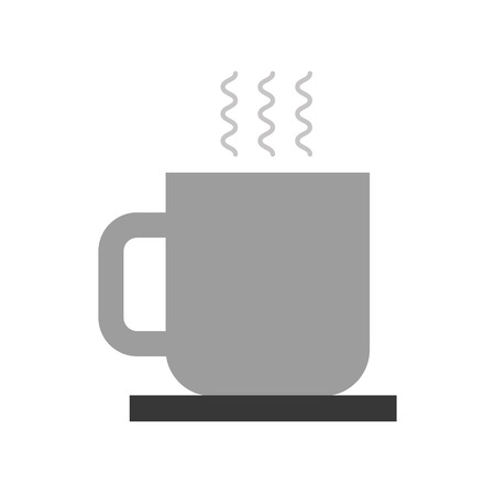 coffee cup with dish hot beverage break vector illustration