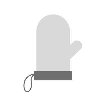 흰색 배경 벡터 일러스트 레이 션에 장갑 potholder 부엌 베이킹 아이콘