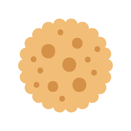chocolate chip cookie dessert eating icon vector illustration Imagens - 85136404