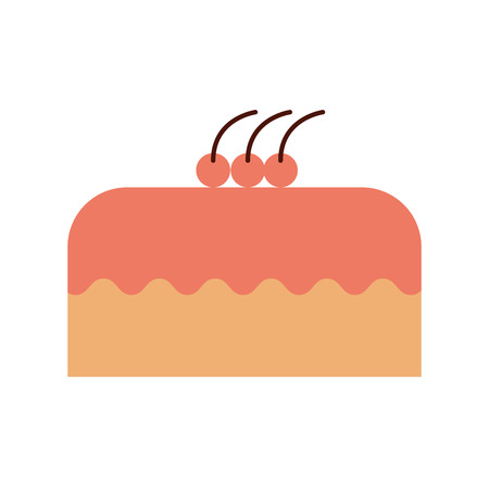 cake delicious berry bakery pastry tasty delicious vector illustration
