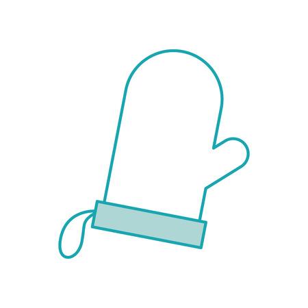 glove potholder kitchen baking icon on white background vector illustration Illustration