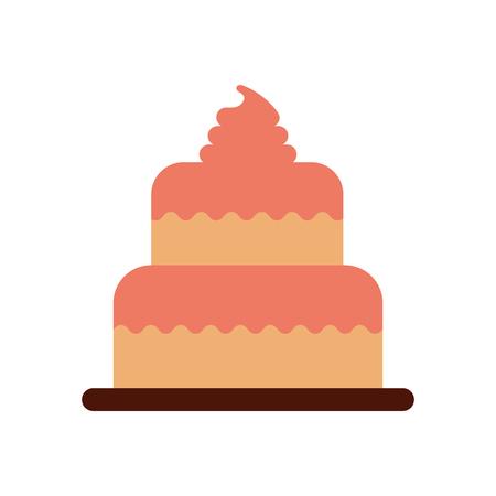 甘い焼きケーキ誕生日クリームおいしいベクトル図 写真素材 - 85136418