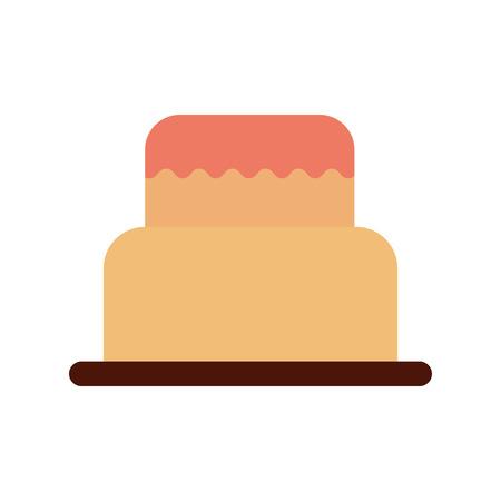 甘い焼いたケーキの誕生日クリームおいしいベクターイラスト  イラスト・ベクター素材