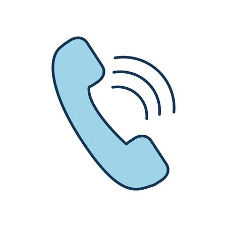 telephone service emergency hospital health care vector illustration