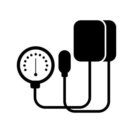 medical tonometer for measuring blood pressure isolated on white background vector illustration Reklamní fotografie - 85136413