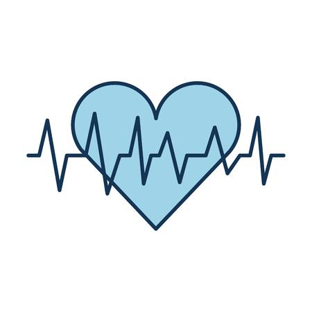 Ilustración de vector de cardiología cardiológica de latido del corazón médico Ilustración de vector
