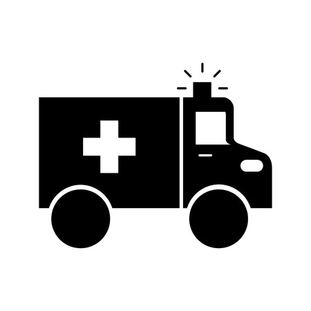 ambulance vehicle transport urgency help accident aid vector illustration