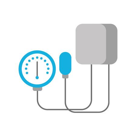 Tonometro medico per misurare pressione sanguigna isolato su sfondo bianco illustrazione vettoriale Archivio Fotografico - 85136716