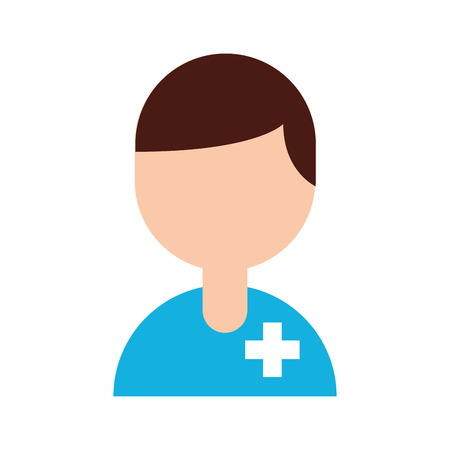 medical people staff help professional character vector illustration