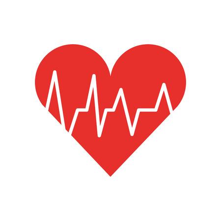 medical heart beat cardiology diagnosis vector illustration