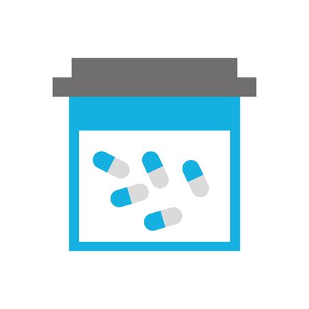 container pills pharmacy medicine healthcare symbol vector illustration