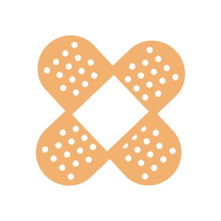 石膏型のアイコン ベクトル図クロスの医療