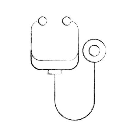 聴診器医療計測器健康検査循環器ベクター グラフィック