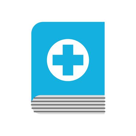 medische boek wetenschap literatuur gezondheidszorg pictogram vectorillustratie