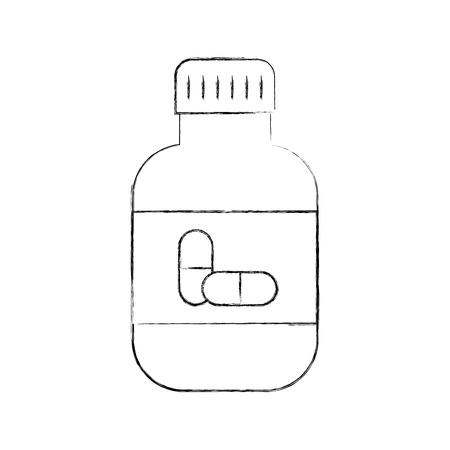 Capsule de médecine capsule symbole de santé illustration vectorielle Banque d'images - 85137052
