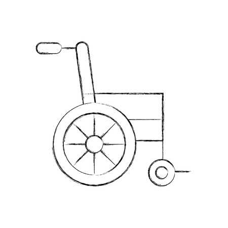wheelchair medical equipment disable transport vector illustration