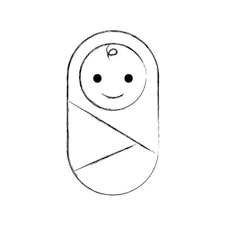Bambino avvolto in illustrazione di vettore sanitario vestiti coperta Archivio Fotografico - 85139998