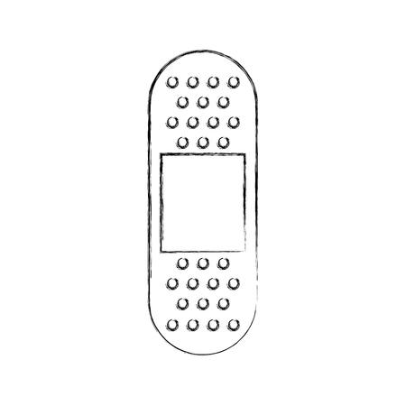 eerste hulp band gips medische hulp pictogram vector illustratie