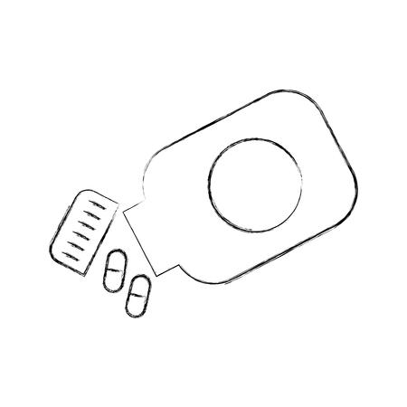 Capsule de médecine capsule symbole de santé illustration vectorielle Banque d'images - 85140006