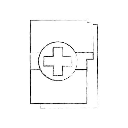 medical health record folder for wellness vector illustration