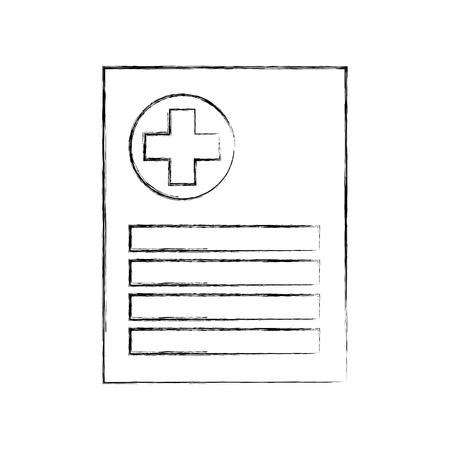 患者ファイル アイコン医療報告書分析診断シンボル ベクトル図