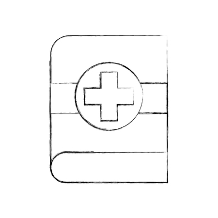 medical book science literature healthcare icon vector illustration