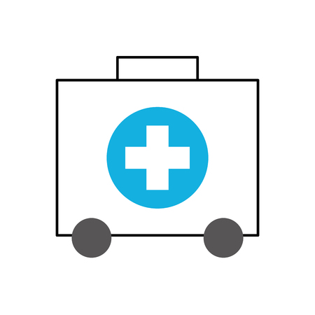 first aid kit health help and medical diagnostics concept vector illustration
