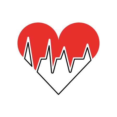 의료 심장 박동 심장 진단 벡터 일러스트 레이션