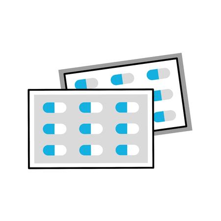 タブレット ビタミン抗生物質ベクトル図の痛み治療医薬品パッケージ  イラスト・ベクター素材