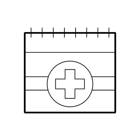 afspraak pictogram zoals medische dag kalender vectorillustratie