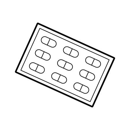 疼痛治療薬の錠剤用ビタミン剤パッケージ