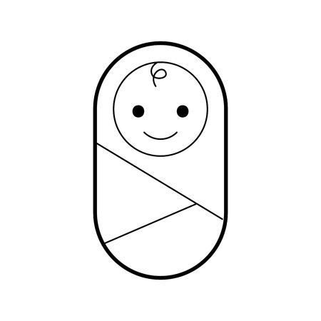 bebé envuelto en ropa de manta salud vectorial ilustración Ilustración de vector