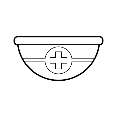medical bowl with cross container clean vector illustration