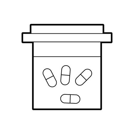 컨테이너 약국 약국 의학 의료 기호 벡터 일러스트 레이션