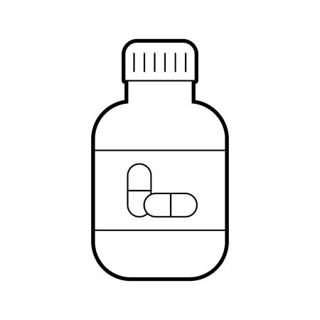 bottle medical liquid drug pharmacy concept vector illustration Vector Illustration